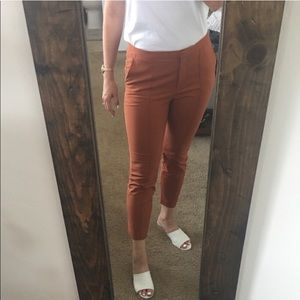 Rust stretchy casual work pant